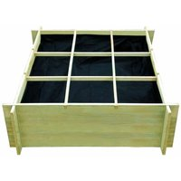 Garden Raised Vegetable Bed Impregnated Pinewood 120x120x40 cm QAH27696 - Hommoo